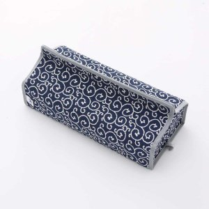 テッシュカバー(唐草柄)日本製 綿100% ジャカード織伝統 米沢織 米織 小紋柄 和柄 tente インテリア プレゼント 新居|yozando-y