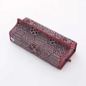 テッシュカバー(亀甲つなぎ柄)日本製 綿100% ジャカード織伝統 米沢織 米織 小紋柄 和柄 tente インテリア プレゼント 新居 幾何学|yozando-y