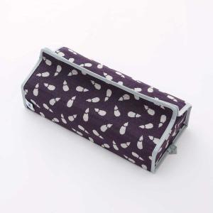 テッシュカバー(茄子柄)日本製 綿100% ジャカード織伝統 米沢織 米織 小紋柄 和柄 tente インテリア プレゼント 新居 富士 鷹|yozando-y