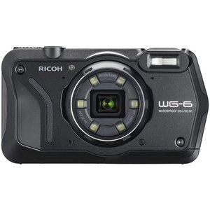RICOH WG-6 本格防水カメラ 20メートル防水 耐衝撃 防塵 耐寒 高画質2000万画素 4K動画対応 高性能GPS内蔵 水中専用マーメードモード搭載  ブラック/オレンジ|yrkstore