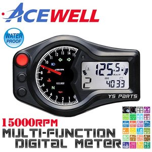 【正規品】ACEWELL完全防水マルチメーターC[15,000rpm指針モデル]XR100モタード/...
