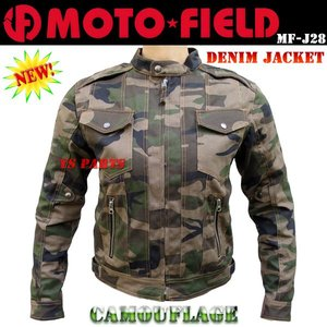 モトフィールドMF-J28 5点式脱着式パッド装備デニムジャケット(コットンジャケット)迷彩各サイズ ys-parts-jp
