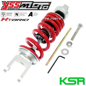 【特注モデル/ツインチューブ採用】ハイブリッドリアサス255mm KSR-I(KSR50/KSR1)/KSR-II(KSR80/KSR2) ys-parts-jp