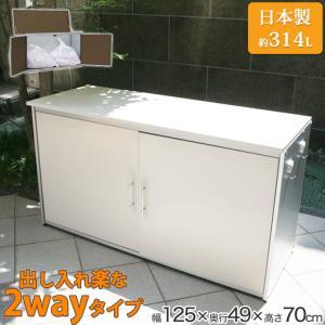 屋外用ゴミ箱 ゴミステーション ごみ箱 ゴミストッカー 約幅125×奥行49cm 大型 大容量 カラスよけゴミ箱 おしゃれ|ys-prism