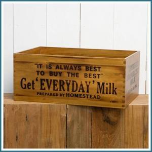 ミルクボックス 木箱 整理箱 ディスプレイ台 木製ボックス 収納ボックス 収納ケース おもちゃ箱 ストックボックス ウッドボックスアンティーク調 おしゃれ|ys-prism