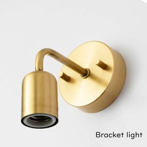 『シングル ブラケットライト ブラス E26用』ブラケット 壁付けブラケット 壁付け照明 照明器具 照明 金色 ゴールド 裸電球 真鍮 ブラス E26|ys-prism