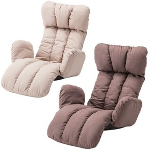 『うたた寝チェア』 座椅子 リクライニング座椅子 リクライニング座イス 座いす 倒せる 1人掛け 一人掛け 一人用 1人用 肘掛け ハイバック ロング 折りたたみ|ys-prism