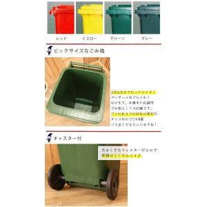 DULTON ダルトン プラスチック トラッシュカン 120L Prastic trash can 120L ゴミ箱 角型 分別 プラスチック製 かわいい ふた付き おしゃれ キャスター付き|ys-prism|03