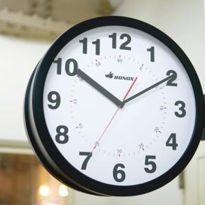 ダルトン 両面時計 壁掛け時計 掛け時計 両面 時計 大きい 大型 おしゃれ レトロ 両サイド 連続秒針 スイープ式 アラビア数字 DULTON 送料無料|ys-prism