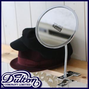 DULTON ダルトン クリップ式ラウンドミラー 雑貨 インテリア 鏡 ミラー フェイスミラー クリップ式 卓上 スタンド ラウンド 丸型 角度自在 留金付き クリップ ys-prism