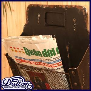 DULTON ダルトン ニュースペーパーボックス レターケース 新聞入れ 郵便物入れ ポスト マガジンラック おしゃれ レトロ アンティーク調 アイアン製 壁掛け|ys-prism