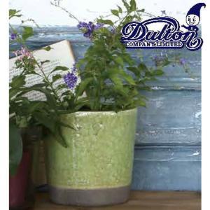 DULTON ダルトン 植木鉢 フラワーポット プランターポット おしゃれ かわいい 北欧 アンティーク調 ディスプレイ用 テラコッタ ハンドメイド 手作り 丸型|ys-prism