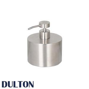 『ステンレス スチール ソープ ディスペンサー』  ディスペンサー ボトル おしゃれ ダルトン DULTON ハンドソープ 500ml 丸型 円形 洗剤 洗面所 バスルーム 浴室|ys-prism
