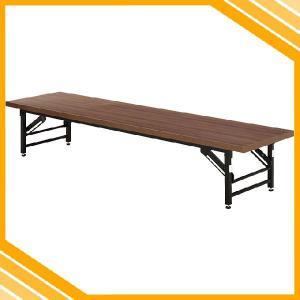 会議テーブル ロータイプ テーブル 長テーブル 会議用テーブル 会議用机 折りたたみテーブル 折りたたみ 折り畳み 折畳み 木目調 スリム 隙間 ブラウン 茶|ys-prism
