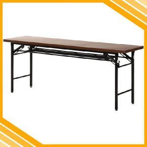 会議テーブル ハイタイプ テーブル 長テーブル 会議用テーブル 会議用机 折りたたみテーブル 折りたたみ 折り畳み 折畳み 木目調 スリム 隙間 ブラウン 茶|ys-prism