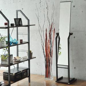 ノルディック スタンドミラー 鏡 姿見 全身鏡 キャスター付き 玄関 木製調 スリム おしゃれ オシャレ モダン 北欧 ホワイトナチュラル|ys-prism