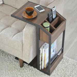 ノルディック サイドテーブル ナイトテーブル テーブル 台 キャスター付き 北欧 木製調 おしゃれ モダン ソファー・ソファサイド ベッドサイド リモコン収納|ys-prism