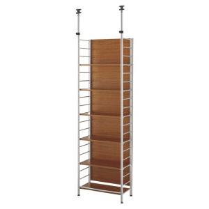 ラック シェルフ 突っ張りラック つっぱりラック 収納棚 整理棚 ディスプレイラック 本棚 棚 多目的ラック 木製ラック パーテーション 間仕切り 目隠し|ys-prism