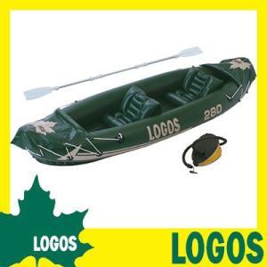 カヤック ロゴス LOGOS 2マンカヤックコンプリート 船 ビニールボート ゴムボート 2人乗り 二人乗り ロープ付き 紐つき アルミオール 送料無料|ys-prism