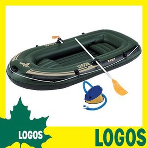 ボート ロゴス LOGOS TRAIL BLAZER BOAT 240cm 船 ゴムビニール2人用 二人用 ロープ付き オール付き フットポンプ付 アルミオール 6気室 キャンプ 送料無料|ys-prism