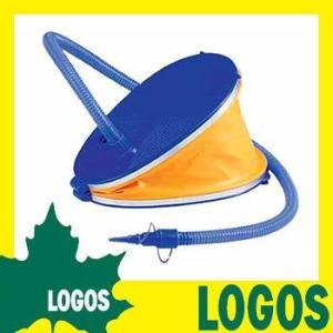 ポンプ ロゴス LOGOS 特大ベローポンプ3000 空気入れ エアーエア3種類ノズル付き 脚踏み 足踏み 脚ふみ 足ふみ プール キャンプ|ys-prism