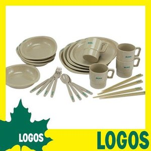 食器セット ロゴス LOGOS 箸付きディナーセット4人用 皿 お皿 プレート 箸 スプーン フォーク コップ セット 料理 アウトドアグッツ|ys-prism