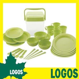 食器セット ロゴス LOGOS 箸付き食器セットBOX 皿 お皿 プレート 箸 スプーン フォーク コップ セット 料理 アウトドアグッツ キャンプグッツ|ys-prism