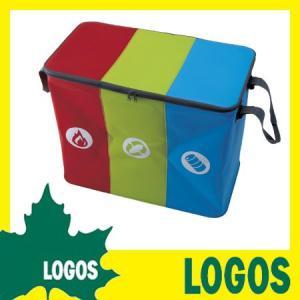 ゴミ箱 ロゴス LOGOS 洗えてたためるダストBOX ごみ箱 ダストボックス キャリーバッグ エコバッグ 防水 洗える 折りたたみ 折り畳み ふた付き 屋外|ys-prism