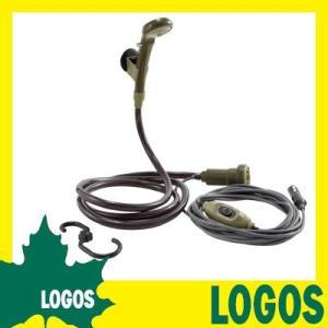 シャワー ロゴス LOGOS パワードシャワー(DC専用)YD 簡易電動持ち運び モバイル 携帯用 食器洗い カープラグ キャンプ アウトドア BBQ 海水浴 ビーチ|ys-prism
