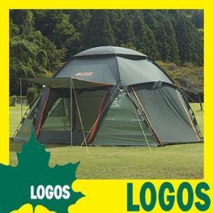 テント ロゴス LOGOS スペースベース デカゴン-N ドーム型 大型タープ簡単組立 広い カーサイド キャノピーポール付き キャリーバッグ付き レジャー 送料無料 ys-prism