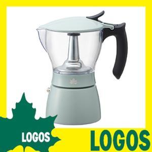 ロゴス LOGOS 見える!エスプレッソメーカー コーヒーメーカー エスプレッソマシーン 透明ポット 洗浄可能 アウトドアバーナー対応 ガスコンロ対応 キャンプ|ys-prism