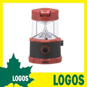 ロゴス LOGOS パワーストックラウンドランタン440 LEDランタン 防災ライト LEDライト キャンプ アウトドア 置き型 スマホ充電 充電式 テント 生活防水 USB充電|ys-prism