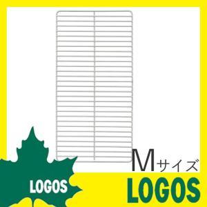ロゴス LOGOS ピラミッドハーフステン極太ネット M バーベキュー網 焼き網 焼網 ステンレス焼き網 ピラミッドTAKIBI M専用 キャンプ アウトドア BBQ|ys-prism