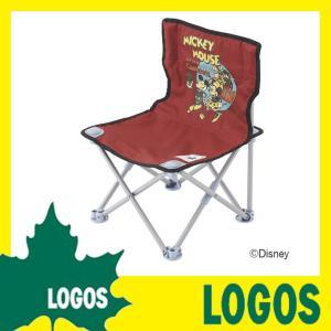 ロゴス LOGOS ディズニー タイニーチェア・ポケットプラス(ビンテージミッキー&ミニー) 折りたたみチェア プール 海水浴 ビーチ キャンプ アウトドア ys-prism