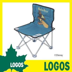 ロゴス LOGOS ディズニー タイニーチェア・ポケットプラス(ビンテージミッキー) 折りたたみチェア ミッキーマウス プール 海水浴 ビーチ キャンプ アウトドア ys-prism