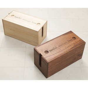 ミニ 桐ケーブルボックス ミニサイズ ミニ コードケース 収納 電源ケーブルボックス 木製 電源タッ...