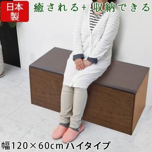 樹脂畳ユニットボックス 高床 ハイ 幅120×60cm ブラウン 畳収納ユニット 収納スツール 収納畳 高床式 畳ボックス 畳ベンチ 畳ベッド 畳収納ボックス 腰掛け|ys-prism