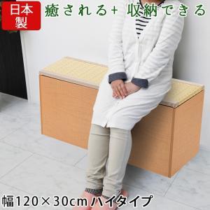 樹脂畳ベンチ 幅120×30cm ナチュラル 畳ユニット 畳収納ユニット 収納スツール 収納畳 ユニット畳 高床式 畳ボックス 畳ベンチ 畳ベッド 畳収納ボックス 腰掛け|ys-prism