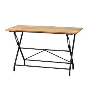 『フォールディングテーブル ANCIENT RACK FOLDING TABLE』 折りたたみテーブル アイアン 木製 おしゃれ シンプル 折りたたみ式 折り畳み式 キッチン リビング