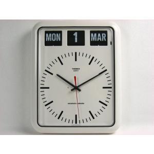 TWEMCO トゥエンコ パタパタカレンダークロック アナログ式 BQ-12B インテリア小物 時計 壁掛け時計 壁掛時計 掛け時計 壁掛け 連続秒針 送料無料 トゥエムコ|ys-prism