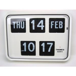 TWEMCO トゥエンコ パタパタカレンダークロック BQ-17 掛け時計 インテリア小物 置物 時計 壁掛け時計 掛時計 壁掛時計 送料無料 トゥエムコ|ys-prism