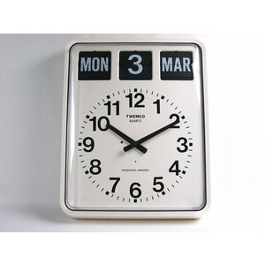 TWEMCO トゥエンコ パタパタカレンダークロック アナログ式 BQ-20 掛け時計 インテリア小物 置物 時計 壁掛け時計 掛時計 壁掛時計  送料無料 トゥエムコ|ys-prism
