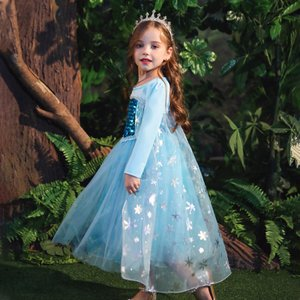 アナと雪の女王 エルザ ELSA ワンピース 子供ドレス 女児 プリンセススカート 女の子 Froz...