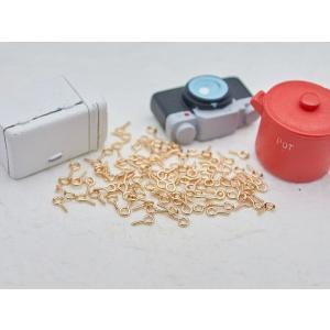 ヒートン(約10x5mm)約100個 KC金 ネジヒートン アクセサリーパーツ 副資材 金属パーツ 手芸材料 デコ用品 手作り雑貨 部品