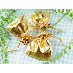 ジュエリー袋 シャイニーカラー(約9.5x8cm)約25枚 ゴールド ラメ ジュエリーケース ポーチ...