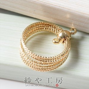 bff9504ff90804 チャーム リングの束チャーム 2カン付 ゴールド 18.6mm 1個 アクセサリーチャーム ピアス イヤリング ネックレス 約1.9cm アクセサリーパーツ  パーツ