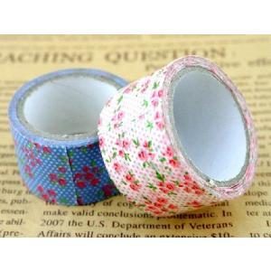 マスキングテープ2本セット 幅3cm 各10ヤード 幅30mm 水色ピンク小花柄幅広セット コラージュ アイディア ハンドメイド 可愛い マステ|ysayakobo