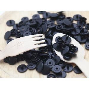 プラスチックスナップボタン(T-3)30組(10mm 黒) ハンドプライヤー 手芸材料 プラスチック製 ボタン 取り付け方 かわいい