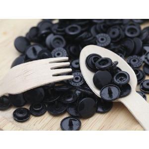 プラスチックスナップボタン(T-5)30組(12mm 黒) ハンドプライヤー 手芸材料 プラスチック製 ボタン 取り付け方 かわいい