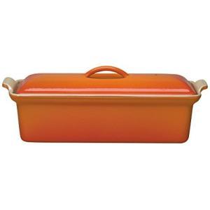 ルクルーゼ テリーヌ レクタ 28cm 鋳物 ホーロー 耐熱容器 オレンジ 2524-28-09|yschoice